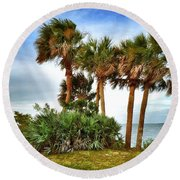 God's Nest Round Beach Towel by Carlos Avila