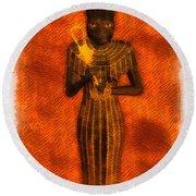 Gods Of Egypt - Bastet Round Beach Towel