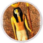 Gods Of Egypt - Horus Round Beach Towel