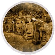 Round Beach Towel featuring the photograph Gods Of Japan by Daniel Hagerman