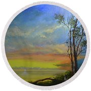 God's Pallette   Round Beach Towel