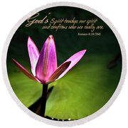 God's Spirit Round Beach Towel