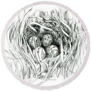 Godwit Nest Round Beach Towel