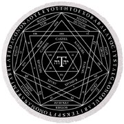 Goetia Round Beach Towel