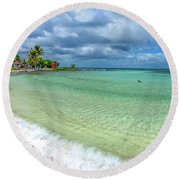 Goff's Caye Belize Pano Round Beach Towel