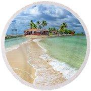 Goff's Caye Belize Pano Round Beach Towel