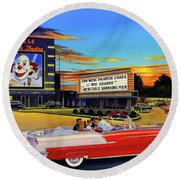 Goin' Steady - The Circle Drive-in Theatre Round Beach Towel