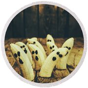 Going Bananas Over Halloween Round Beach Towel