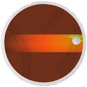 Round Beach Towel featuring the photograph Going Home by John Glass
