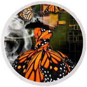Round Beach Towel featuring the mixed media Going The Distance by Marvin Blaine