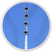 Going Vertical  Round Beach Towel
