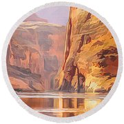 Gold Canyon River Round Beach Towel