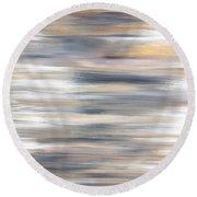 Gold Coast #21 Landscape Original Fine Art Acrylic On Canvas Round Beach Towel
