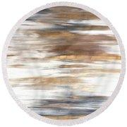 Gold Coast #22 Landscape Original Fine Art Acrylic On Canvas Round Beach Towel