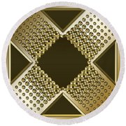 Gold Coffee 9 Round Beach Towel