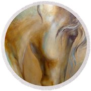 Gold Dust 1 Round Beach Towel