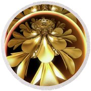 Gold Lacquer Round Beach Towel