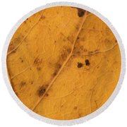 Gold Leaf Detail Round Beach Towel