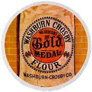 Gold Medal Flour Sign Round Beach Towel