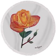 Gold Medal Rose Round Beach Towel