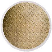 Grit Of Goldfinger Round Beach Towel