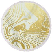 Gold Rush Round Beach Towel by Uma Gokhale