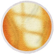 Round Beach Towel featuring the photograph Gold Toner by Craig J Satterlee