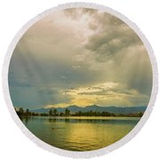 Round Beach Towel featuring the photograph Golden Afternoon by James BO Insogna