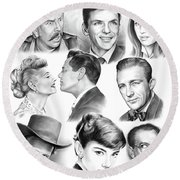 Golden Age Montage Round Beach Towel
