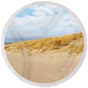 Golden Beach Walk Round Beach Towel