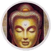 Golden Buddha Round Beach Towel