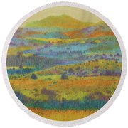 Golden Dakota Day Dream Round Beach Towel
