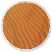 Golden Desert Sands Round Beach Towel
