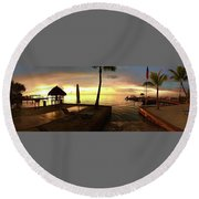Round Beach Towel featuring the photograph Golden Dream by Steven Lebron Langston