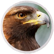 Golden Eagle Intensity Round Beach Towel