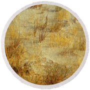Golden Earthscape Round Beach Towel