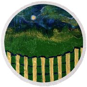 Golden Evening Round Beach Towel by Donna Blackhall