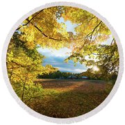 Golden Fields Round Beach Towel