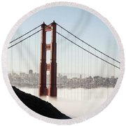 Round Beach Towel featuring the photograph Golden Gate And Marin Highlands by David Bearden