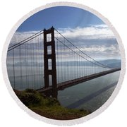 Golden Gate Bridge-2 Round Beach Towel