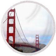 Golden Gate Bridge Full View Round Beach Towel