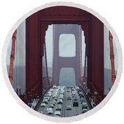Golden Gate Bridge, San Francisco Round Beach Towel
