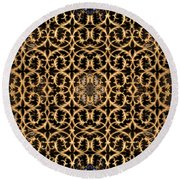 Round Beach Towel featuring the photograph Turkish Gate 2 by Mark Greenberg