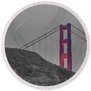 Golden Gate  Round Beach Towel