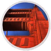 Golden Gate Tower Round Beach Towel by Jim And Emily Bush