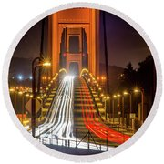 Golden Gate Traffic Round Beach Towel