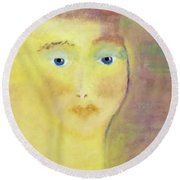 Golden Girl Round Beach Towel