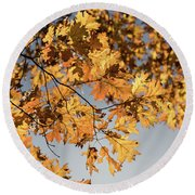 Golden Glow -  Round Beach Towel