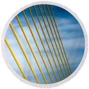 Golden Glow Of Tampa Round Beach Towel
