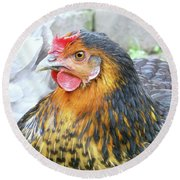 Golden Hen Round Beach Towel